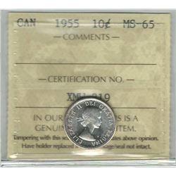 1955 Canada 10 Cent