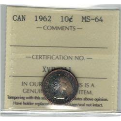 1962 Canada 10 Cent