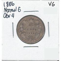 1886 Canada 25 Cent
