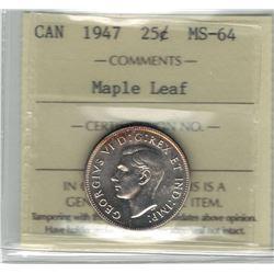 1947 Canada 25 Cent
