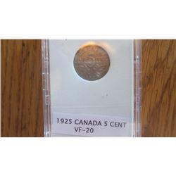 1925 Canada 5 Cent