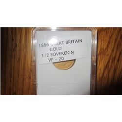 1866 Great Britain Gold Coin