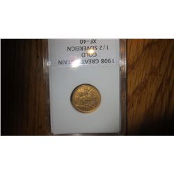 1908 Great Britain Gold Coin