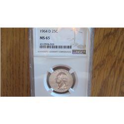 1964-D USA 25 Cent