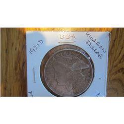 1921-D USA 1 Dollar