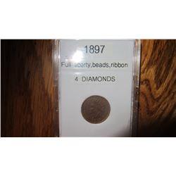 1897 USA 1 Cent