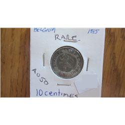 1895 Belgium 10 Centimes (RARE)