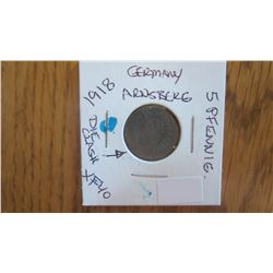 1918 Germany 5 Pfennig