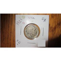 1921-S USA 5 Cent