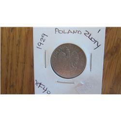 1929 Poland 1 Zloty
