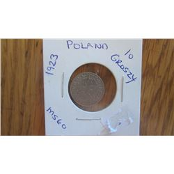 1923 Poland 10 Groszy