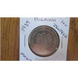 1984 Poland 100 Zloty