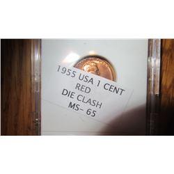 1955-S USA 1 Cent (ERROR COIN)