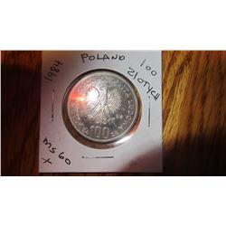 1984 Poland 100 Zlotych