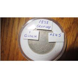 1838 Germany 1 Gulden