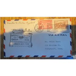 1939 First Day Air Mail Cover (RARE)