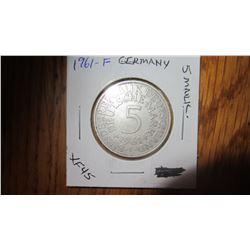 1961-F Germany 5 Mark