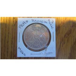 1909-D Bavaria 3 Mark