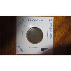 1874-A Germany 2 Pfennig