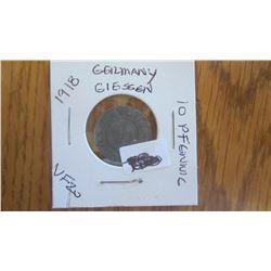 1918 German Giessen 10 Pfennig