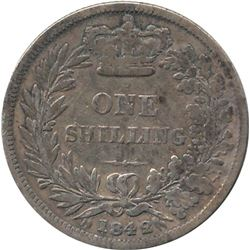1842 Great Britain Shilling