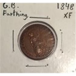 1848 Great Britain Farthing
