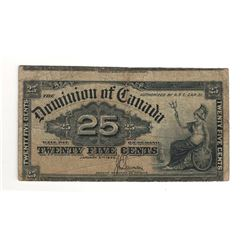 1900 Canada 25 Cent Note