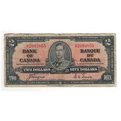 1937 Canada 2 Dollar Note