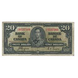 1937 Canada 20 Dollar Note