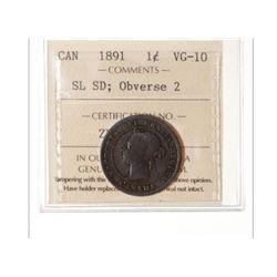 1891 Canada 1 Cent