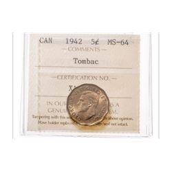 1942 Canada 5 Cent