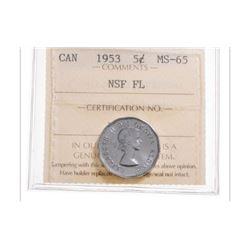 1953 Canada 5 Cent