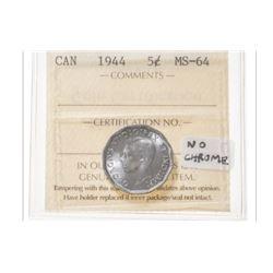 1944 Canada 5 Cent