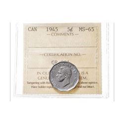 1945 Canada 5 Cent