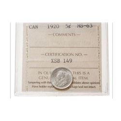 1920 Canada 5 Cent