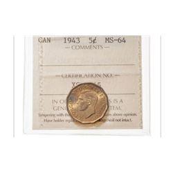 1943 Canada 5 Cent