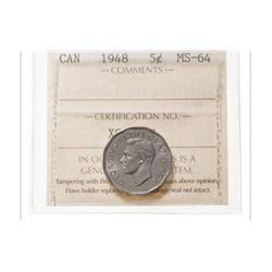 1948 Canada 5 Cent