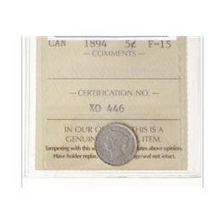 1894 Canada 5 Cent