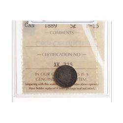 1889 Canada 5 Cent