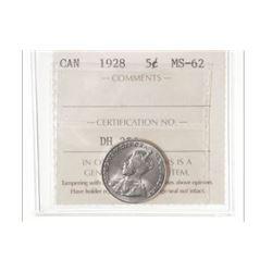 1928 Canada 5 Cent
