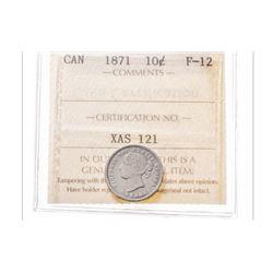 1871 Canada 10 Cent