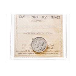 1948 Canada 10 Cent