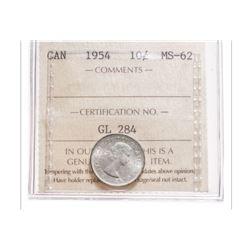 1954 Canada 10 Cent