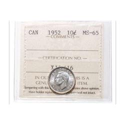 1952 Canada 10 Cent