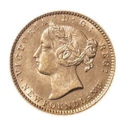 1881 Newfoundland 2 Dollar Gold Coin