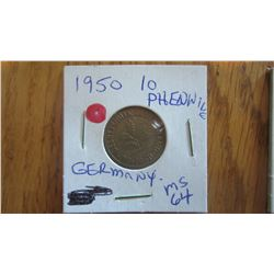 1950 Germany 10 Pfenning
