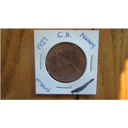 1927 Great Britain Penny
