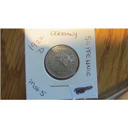 1922-D Germany 50 Pfennig