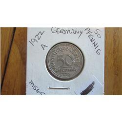 1922-A Germany 50 Pfennig