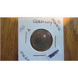 1911-A Germany 10 Pfennig